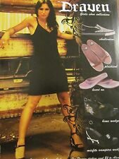 Lacuna Coil, Cristina Scabbia, Draven Shoes, Full Page Promotional Ad