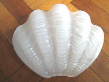 DECO SHELL ODEON FROSTED GLASS LIGHT SHADE PANEL