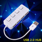 New Micro 4 Ports Mini USB 2.0 Hub USB High Speed USB Splitter On/Off Switch