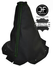 GREEN  STITCH FITS PEUGEOT 406 COUPE 1999-2003 GEAR COVER GAITER BLACK LEATHER
