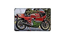 Ducati 900 Mhr Motorbike Sign Metal Retro Aged Aluminium Bike