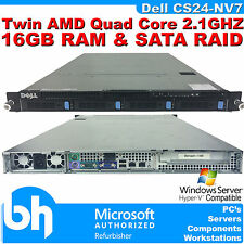 Dell PowerEdge cs24-nv7 Twin de cuatro núcleos de servidor en rack Amd 2.1 ghz 16 Gb Ram Raid Sata