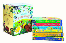Usborne Peep Inside Collection 6 Books Box Set Children Gift Set Dinosaurs, Farm