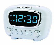 Precision Radio Controlled LED Blue Display Alarm Clock Mains Powered AP043