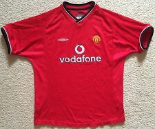 New Large Mens Manchester United Soccer Jersey EPL Football Shirt 2000 Man Utd