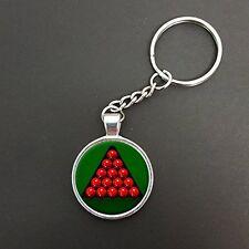 Billard triangle rack pendentif sur un anneau fendu porte-clés idéal anniversaire cadeau N382