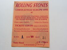 THE ROLLING STONES TICKET  20TH JULY 1990, MANCHESTER CITY FOOTBALL GROUD  U.K.