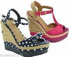 ladies wedges sandals peep toe shoes womens high wedge size uk  3  4  5  6  7  8