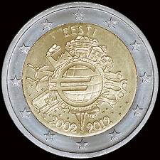 Estonia 2 Euro Commemorative 10th Anniversary Intro of Euro Coins & Notes (UNC)