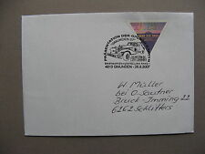 AUSTRIA, eventcover to Germany 2007, Gmunden car WIPA, triangle stamp