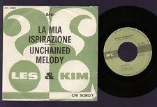 """7"""" LES & KIM SHAPIRO SHEPSTONE ROKES LA MIA ISPIRAZIONE / UNCHAINED MELODY 1966"""