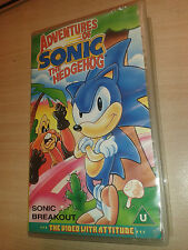 VHS VIDEO FILM * ADVENTURES THE HEDGEHOG SONIC -  BREAKOUT * RARE