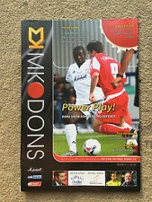 MK Dons v Chesterfield - Coca~Cola League 1 2005/06 Programme