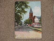 Grand St. showing Lutheran Church, Gloversville, N.Y., used vintage card