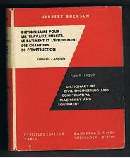 French to English - DICTIONARY OF CIVIL ENGINEERING & CONSTRUCTION MACHINERY  HB