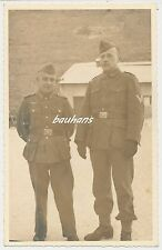 Portrait-Foto Soldaten vom Heer Koppelschloss-Seitengewehr-Schiffchen  (t859)