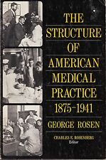 GEORGES ROSEN - THE STRUCTURE OF AMERICAN MEDICAL PRACTICE 1875-1941 - ROSENBERG