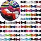 Fashion Classic Men Wedding Bowtie Necktie Solid Color Bow Tie Tuxedo Adjustable