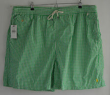 Ralph lauren polo blanc vert carreaux natation shorts trunks 4XL 4X 4XB xxxxl big