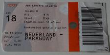 Ticket for collectors * Holland - Paraguay 2009  Heerenveen Netherlands