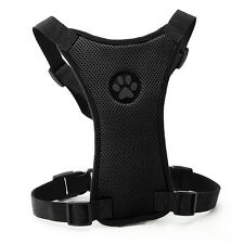 20-24'' Black Air Mesh Puppy Pet Dog Car Harness Safety for Medium Dogs Travel