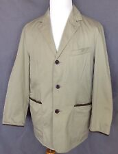 National Geographic Travel Collection Beige Khaki Safari Field Jacket  Sz L