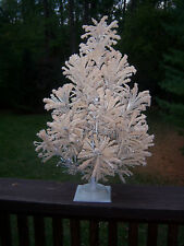 VTG RARE  2 FT ALUMINUM CHRISTMAS TREE FROSTED FROSTLITE  TABLE  TOP