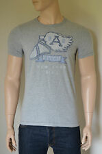 NEW Abercrombie & Fitch Kempshall Mountain Grey Vintage Graphic Tee T-Shirt M