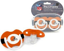 Cleveland Browns Orthodontic Baby Pacifiers 2 Pack (NEW) Infant Newborn NFL CDG