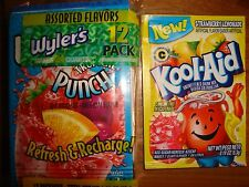 100 WYLERS & KOOL AID Drink Mix GRAPE BERRY CHERRY STRAWBERRY LEMONADE TROPICAL