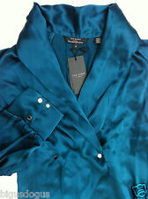 Ted Baker Green Silk Shirt ~ Size 2  /UK 10 / GBP £119