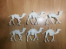 Konvolut Merten 6 Kunststoff Figuren Kamele für Beduinen 4cm