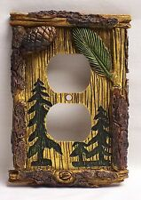 Pine Tree Outlet Plate/Cover Rustic Home & Cabin Decor (NCE)
