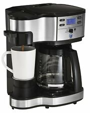 Coffee Maker Brewer 2 Way Hamilton Beach Single Serve Brewer and Full Pot TEA