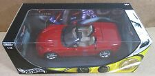 Hot Wheels Corvette C6 Convertible Dark Red Sport Car Die Cast 1:18 Scale NEW