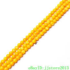 """6mm Natural Yellow Color Shell MOP Round Shape Gemstone Loose Beads Strand 15"""""""