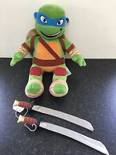 Build A Bear Leonardo Teenage Mutant Ninja Turtle With Both His Swords