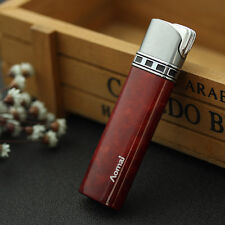 Red Fashion Cigar Butane Gas Refillable Jet Flame Flint Cigarette Lighter