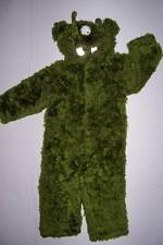 OLD NAVY GREEN FURRY 3 EYED MONSTER COSTUME 12-18 mo HALLOWEEN