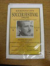 30/07/1992 Kilkenny City v Birmingham City [Friendly] & 10/08/1992 Bohemian [Fri