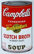 ANDY WARHOL CAMPBELLS' SCOTCH BROTH SOUP II Can SUNDAY B.MORNING 55/1500 LimEd