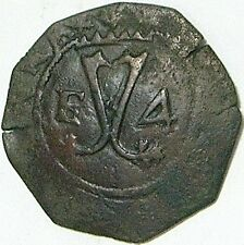 Dominican Republic-Hispañola-Santo Domingo 1516-56 4 Maravedi --Arabic 4--