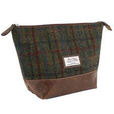 Harris Tweed Wash bag (Green check) 25136