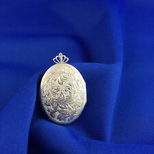 Brand New Vintage hand engraved Sterling Silver Locket