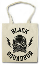 BLACK SQUADRON HIPSTER BAG - Stofftasche Stoffbeutel - Tie Star Fighter Wars NEW