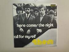 "THEM: (w/Van Morrison)Here Comes The Night-All For Myself-Italy 7"" 65 Deram PSL"