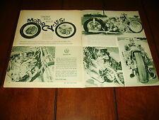 1962 HARLEY DAVIDSON - CHEVY V-8  ***ORIGINAL VINTAGE ARTICLE***