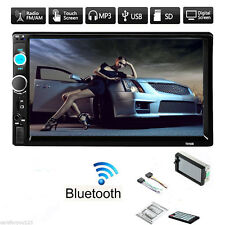 "7"" 2 Din In-Dash Bluetooth 1080P Car Stereo MP3 Player FM Radio AUX Touch Screen"