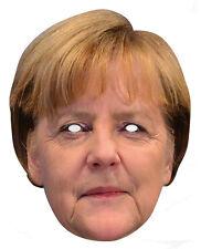 Angela Merkel Allemand Chancellor carte unique 2D Fête Masque Visage politicien