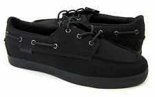 Lugz Boat Shoes March Canvas Topsiders Black Sneakers Size 9 EUR 42.5